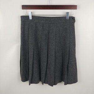Vintage LL Bean Women's Gray Wool Pleated Skirt
